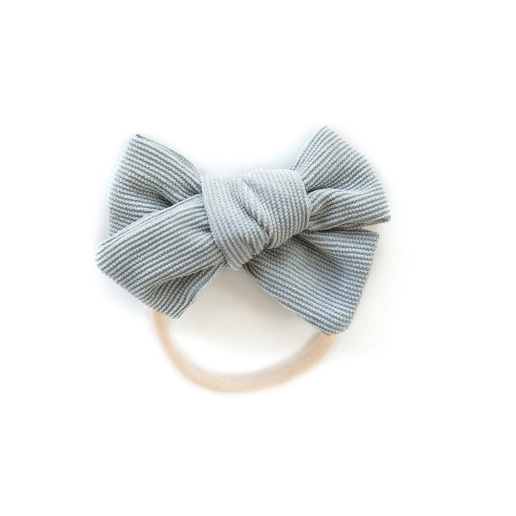 Corduroy Nylon Headband in Light Blue