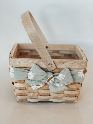 Blue Daisies Basket- Small