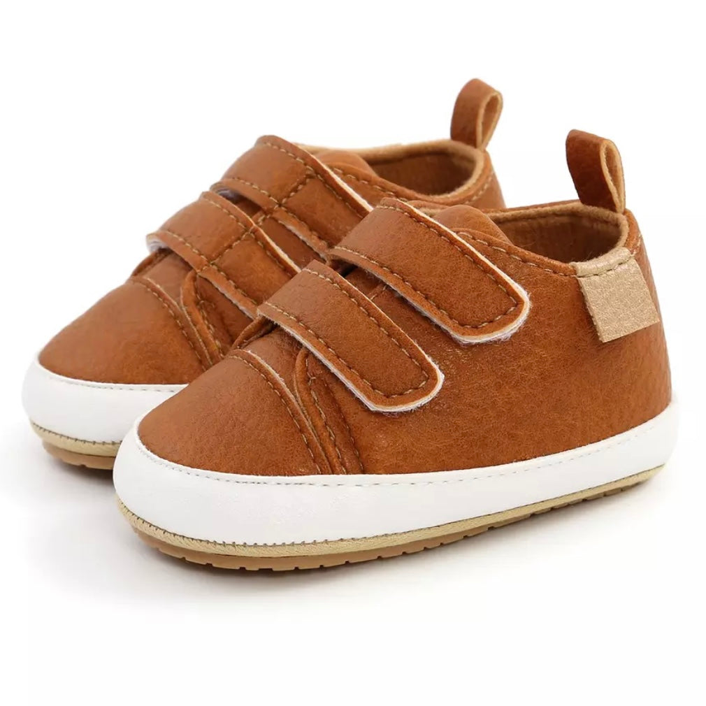 Velcro Sneakers First Walkers in Cognac