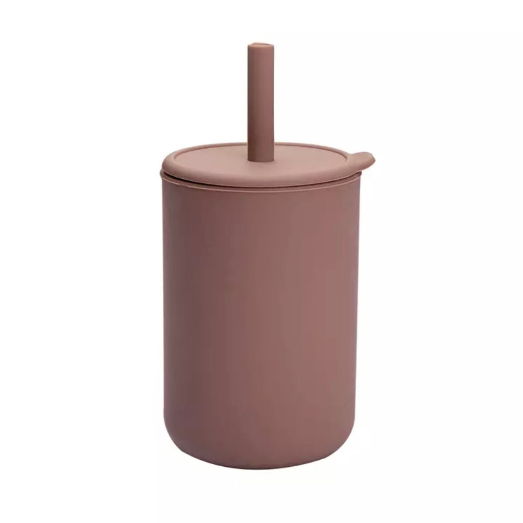 BPA Free Silicone Sippy Cup with Straw in Shadow