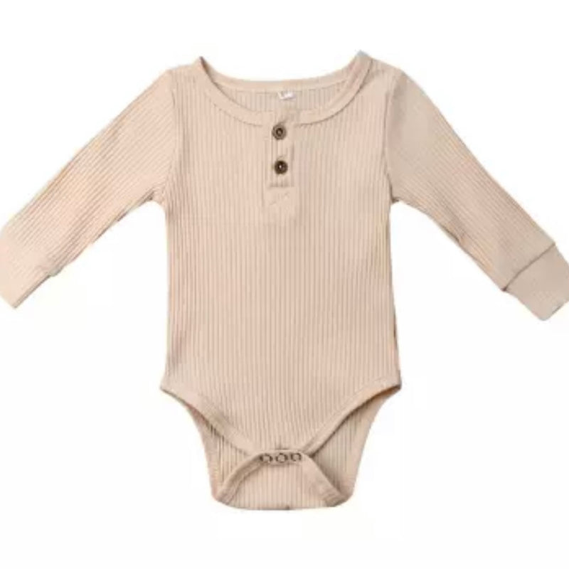 Essential Button Bodysuit in Natural