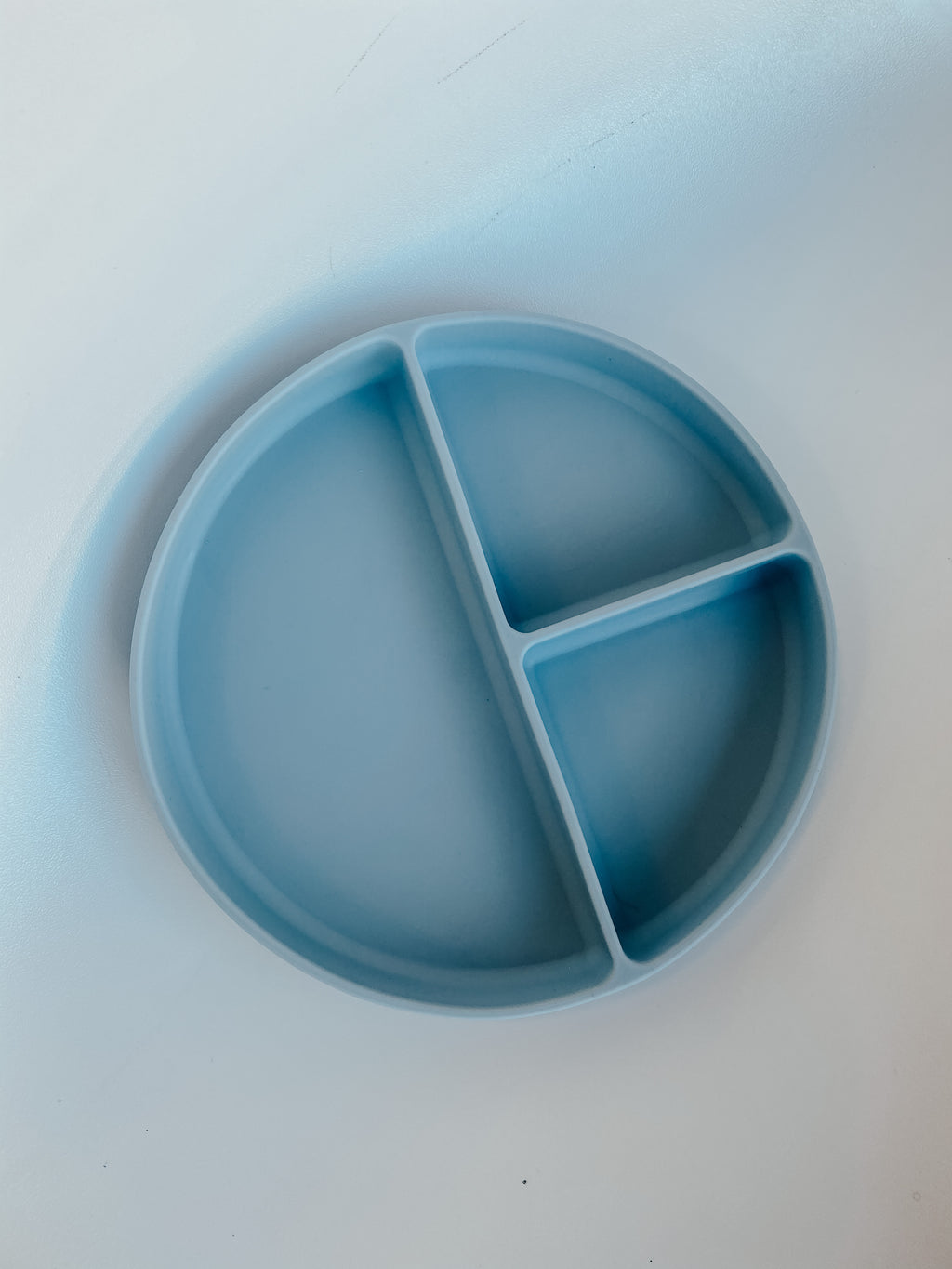Silicone Suction Plate in Powder Blue