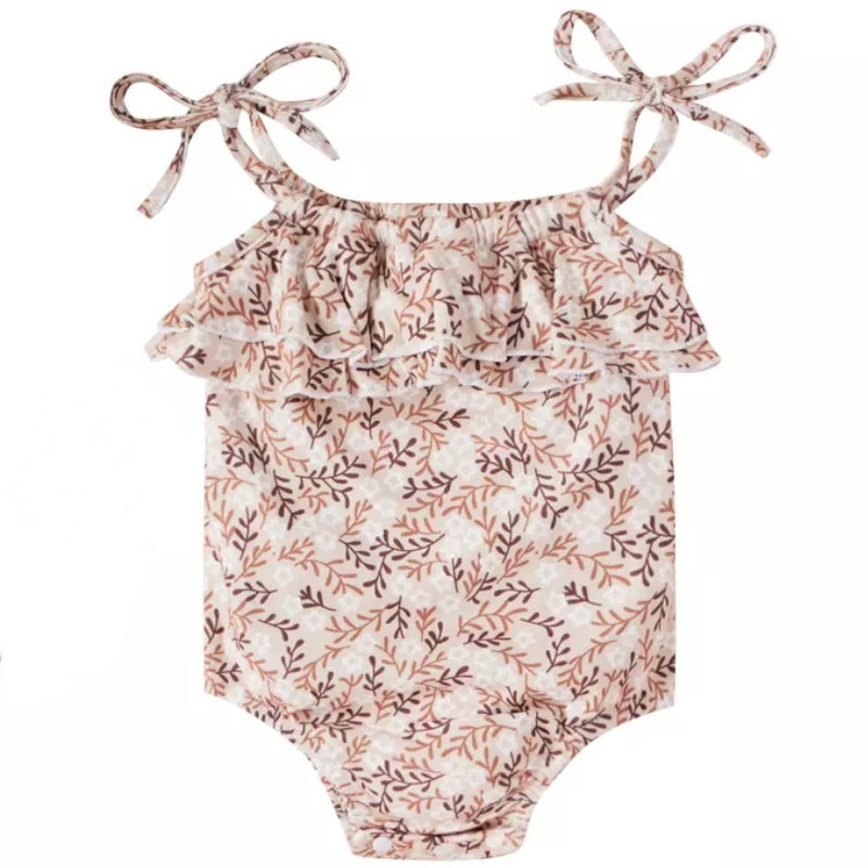 Buttery Soft Ruffle Bodysuit in Vintage Floral