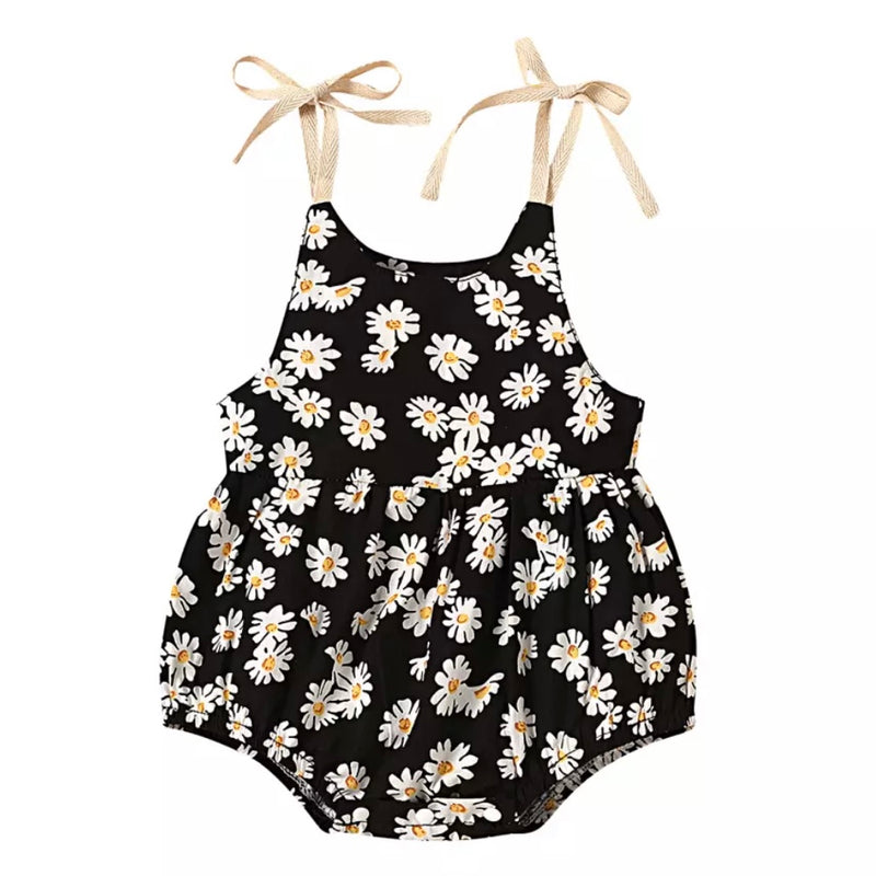 Delilah Daisy Romper in Black