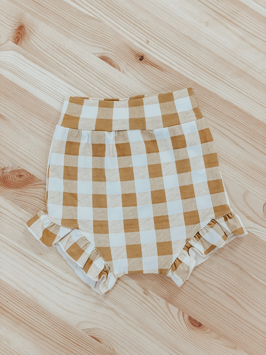 Bloomer Shorts in Mustard Check