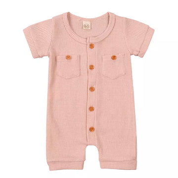 Mountain Mover Shorty-Suit in Pink