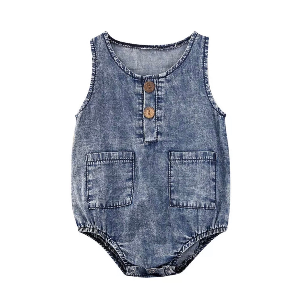 Denim Tank Romper
