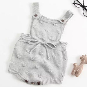 Gender Neutral Sweater Overalls in Grey
