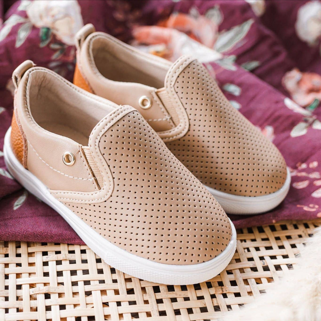 Little Love Bug Tan Quinn Slip On