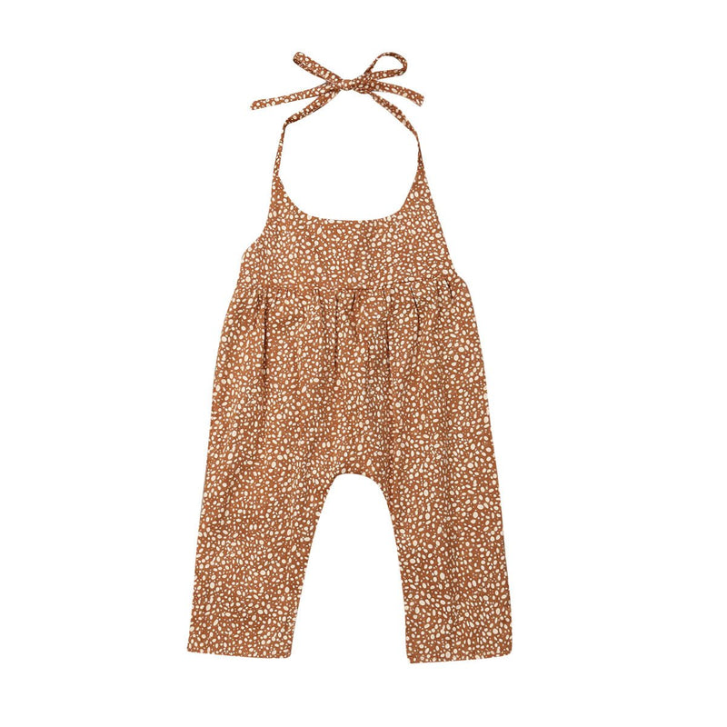 Copper Halter Jumpsuit