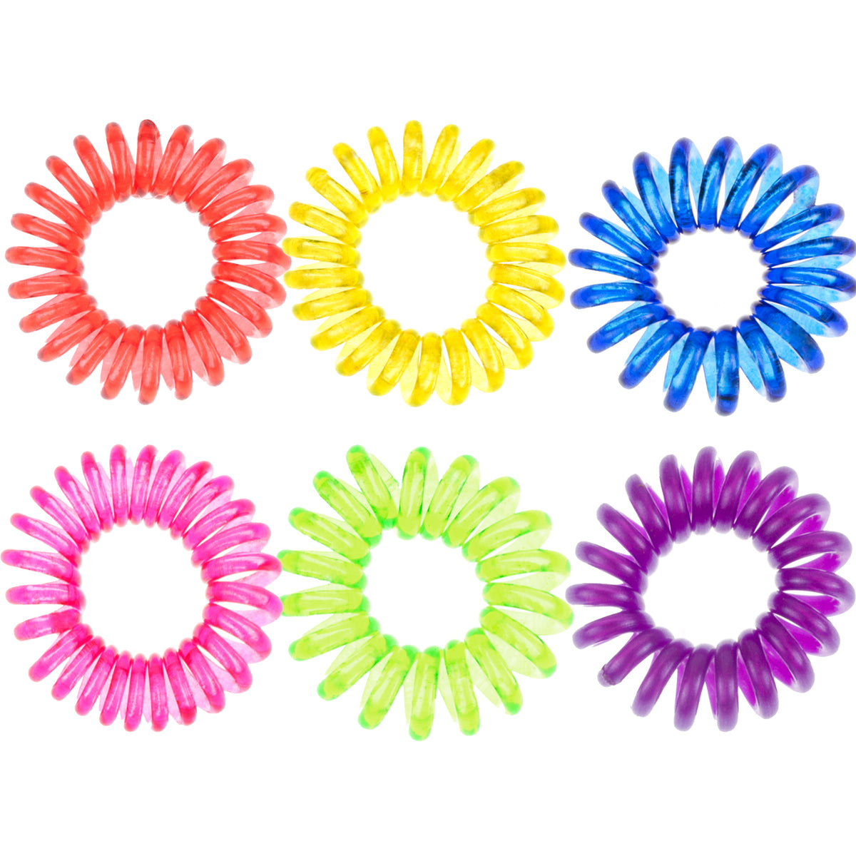 Rainbow No-Crease Ponytail Holder Set