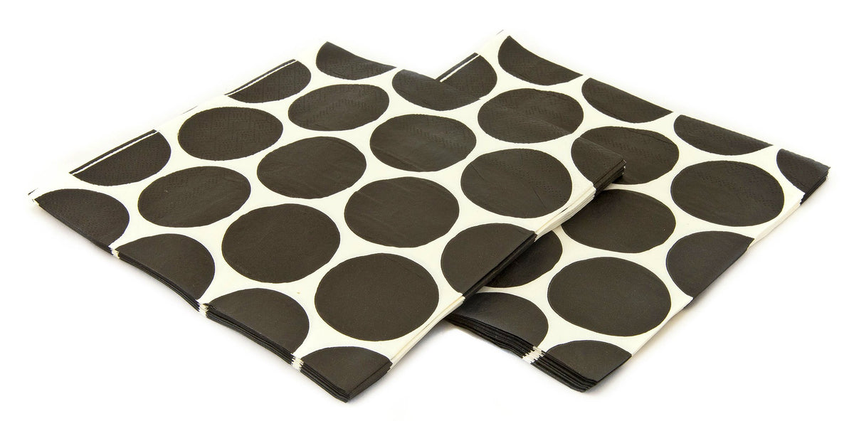 Black & White Polka Dot Napkins