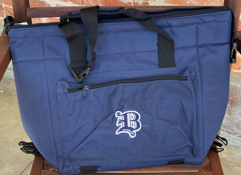 "Large Blue Insulated Cooler Bag with ""B"""