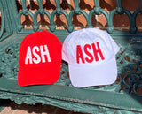 Red and White ASH Hats