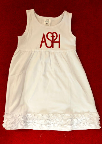 ASH Youth Girls Tank Dress - white