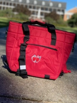 Large Red Insulated Cooler Bag