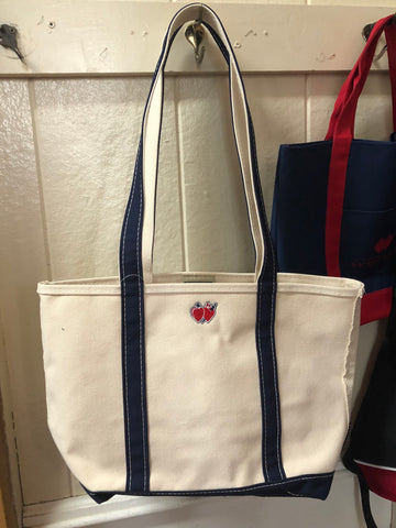 LLBean Tote with Hearts Logo