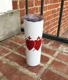 16oz Insulated Skinny Tumbler with Lid and Straw