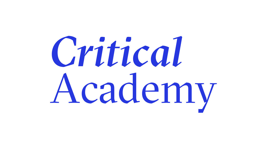 Critical Academy seminars coming up