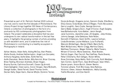Miriam O'Connor, 100 Views of Contemporary Ireland