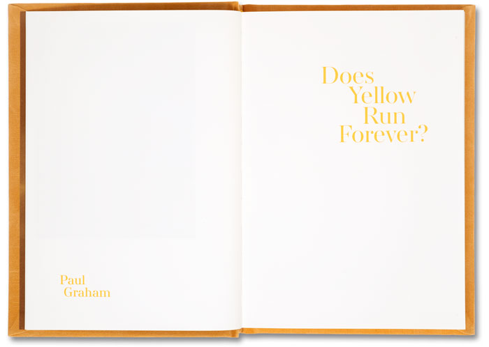 Does Yellow Run Forever?, Paul Graham - The Library Project
