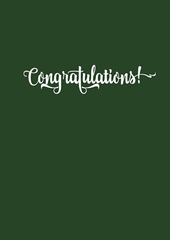 Congratulations! Greeting Card - The Library Project