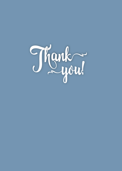 Thank You! Greeting Card - The Library Project