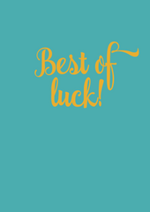 Best of Luck! Greeting Card - The Library Project