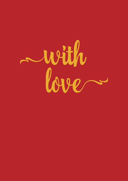 With Love Greeting Card - The Library Project