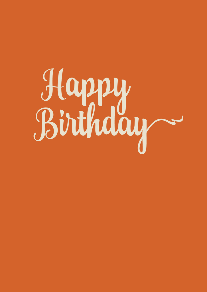 Happy Birthday Greeting Card - The Library Project
