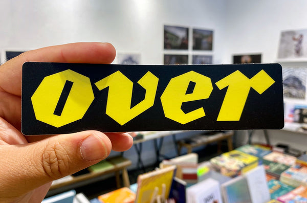 OVER Journal Sticker