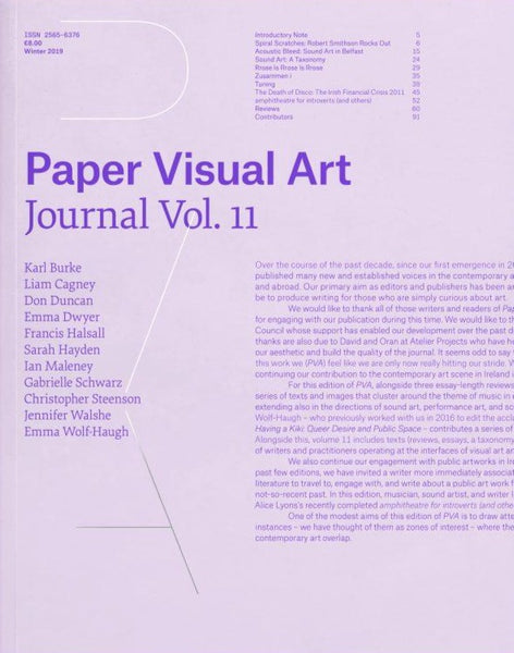 Paper Visual Art Journal: Volume 11 - The Library Project