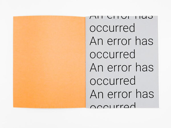 An error has occurred, Ronan Hutchinson - The Library Project
