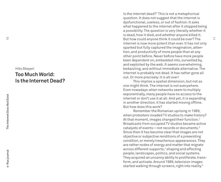 e-flux Journal: The Internet Does Not Exist - The Library Project