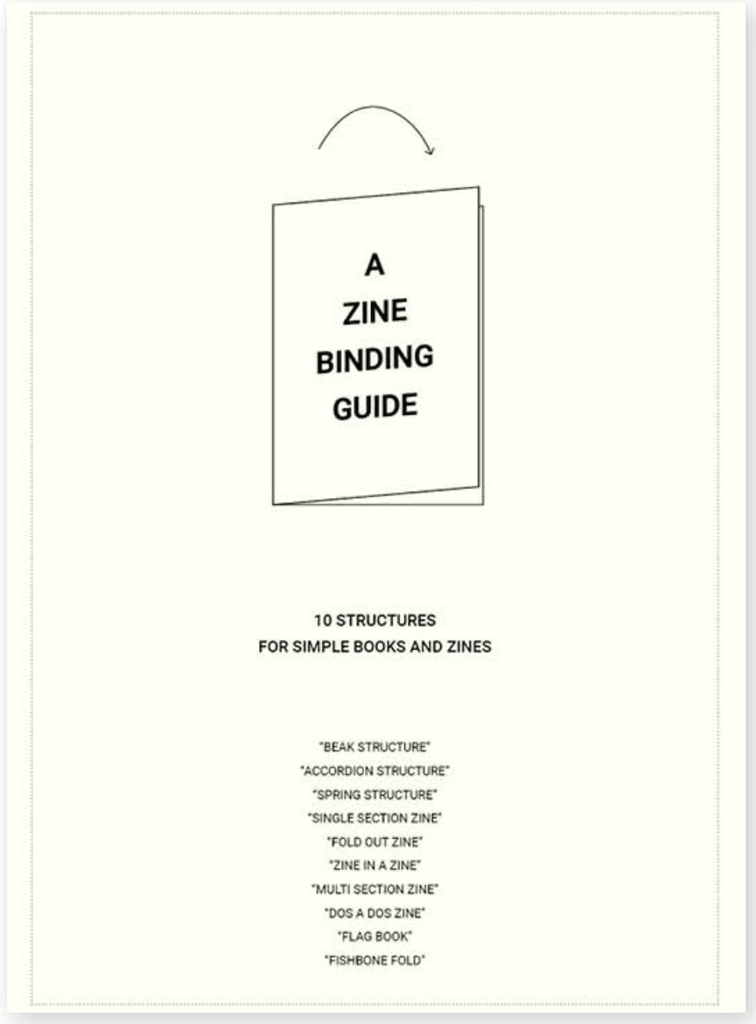 Zine Binding Guide, Lewis Bush