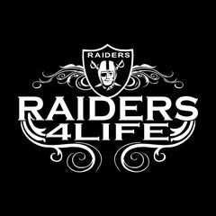 Raiders 4 Life Logo Decal/Window Sticker