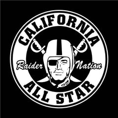 California All Star Raiders 4 Life Decal/Window Sticker