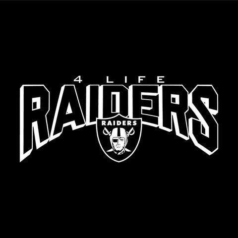 Raiders 4 Life Throwback Logo Decal/Window Sticker