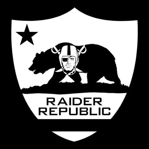 Raider Republic - Raiders 4 Life Decal/Window Sticker