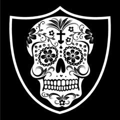 Aztec Skull - Raiders 4 Life Decal/Window Sticker