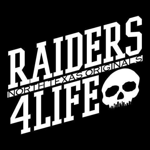 DFW Raiders 4 Life 2017 - Decal/Window Sticker