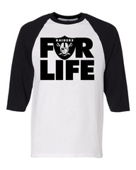 FOR LIFE - Baseball 3/4 Sleeve R4L Tee
