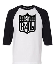 R4L Shield - Baseball 3/4 Sleeve R4L Tee