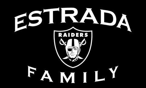 Estrada Family Raider Shield - 3'X5' Raiders 4 Life Banner
