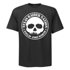 DFW Skull Skyline - Raiders 4 Life T-Shirt