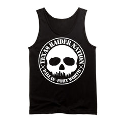 DFW Raiders 4 Life Booster Club Skull Skyline Tank Top