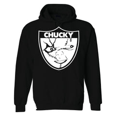 Chucky is Back in Black - Raiders 4 Life Pullover Hoodie