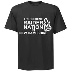 I Represent Raider Nation in New Hampshire - R4L Shirt