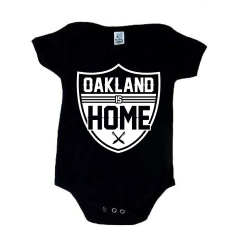 Oakland is Home - Raiders 4 Life Kids Shirt or Onesie