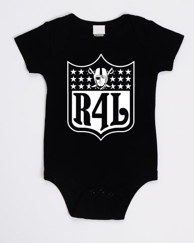 R4L Shield - Raiders 4 Life Kids Shirt or Onesie